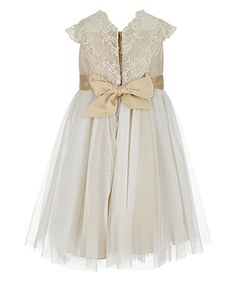 Baby Estella Flower Crochet Dress | Gold | Monsoon $70