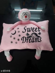 Baby Pillows Designer Baby Velvet Printed Pillow  Material - Velvet Size - ( L X W ) - 10 in X 16 in Description -  It Has 1 Pieces Of Baby Pillows Work - Printed Country of Origin: India Sizes Available: Free Size *Proof of Safe Delivery! Click to know on Safety Standards of Delivery Partners- https://ltl.sh/y_nZrAV3  Catalog Rating: ★4.1 (1701)  Catalog Name: Free Mask Cartoon Shaped Baby Velvet Printed Pillows Vol 1 CatalogID_73530 C142-SC1733 Code: 822-651418-