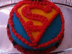 Superhero birthdays require Superman cakes....
