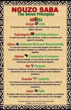7 Principles Of Kwanzaa, Nguzo Saba, Happy Kwanzaa, African Symbols, Professional Development For Teachers, African American Culture, Self Determination, To Strive, Journal Covers