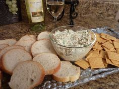 Crunchy Chicken Spread - With the holidays coming and football parties, I thought this was a good recipe for you to add to your entertaining menu. Appetizer Dips, Best Appetizers, Appetizer Recipes, Sandwich Spread, Soup And Sandwich, Football Party Foods, Football Parties, Nibbles For Party, Cream Cheese Spreads