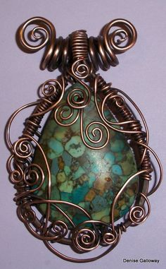 This lesson teaches you how to create an easily wrapped pendant with just a few tools and some copper wire.