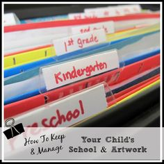 The Best Way to Organize Important School Year Artwork & Papers #Pinspiration