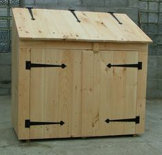 "Our 2' x 4' wooden ""Garden Bin"" is a sturdy Ready To Assemble piece, to help you get organized. Comes with all the hardware & step by step plans - takes only 30 minutes with a Phillips head screwdriver to put together, that's all! Ships in 9 panelized pieces. http://jamaicacottageshop.com/shop/garbage-bin-2x4/ http://jamaicacottageshop.com/wp-content/uploads/pdfs/2x4garbagebin.pdf"