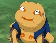 Day 24: LEAST Favourite Summoning Animal.  Gamatatsu.  obsessed with snacks. SHHEESH THIS GUY IS COMPLETELY USELESS! I *HATE* USELESS PEOPLE!!!!!!!!!!!!!