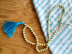 I saw these bright and gorgeous beaded tassel necklaces at the Furbish Studio…