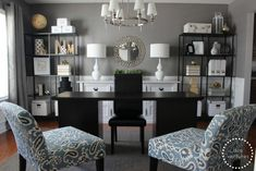 Formal Dining Room Turned Home Office