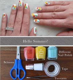 DIY Colorful Nail Stickers