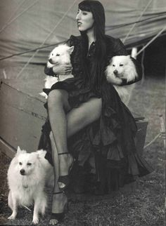 LOVE me some AMERICAN ESKIMO pups... **Mine the MOST <3 <3 <3 :))))                 rossy de palma by bruce weber