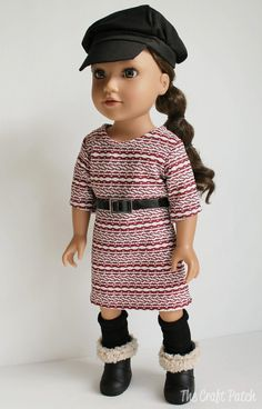 American Girl Doll Basic Knit Dress FREE Pattern and Tutorial