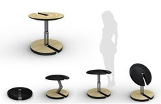 Collapsible table idea by Ben Rodgers at Coroflot.com