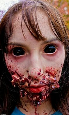Creepy special effects makeup paired with possessed blackout contacts => http://www.pinterest.com/pin/350717889705707881/