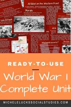 This is a complete 240  page unit that covers the major events and development of World War I and the Russian Revolution.  Review notes and materials are provided for background information, as well as numerous engaging and collaborative student activities, centers, and analysis work.  This WWI Unit includes a daily plan with bellringer and exit slip suggestions, a study guide, and a unit test with writing prompt options.  Includes many powerpoints and all student materials. Paragraph Writing, Persuasive Writing, Writing Prompts, Writing Rubrics, Opinion Writing, Geography Lessons, Teaching Geography, Teaching History, Teaching Strategies