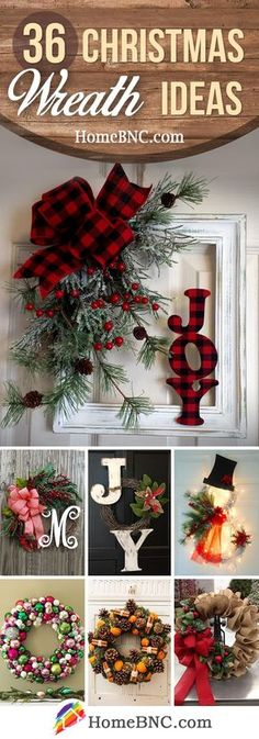 Christmas Wreath Ideas Holiday Christmas Project Idea Project Complexity: Medium… - Home Page Decoration Christmas, Noel Christmas, Rustic Christmas, Xmas Decorations, All Things Christmas, Winter Christmas, Christmas Ornaments, Christmas Vacation, Christmas 2019