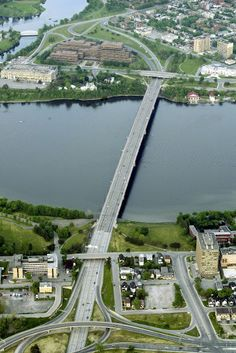 The Macdonald-Cartier Bridge connects Ottawa, Ontario Canada to Gatineau, Quebec