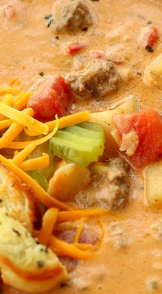 Classic Cheeseburger Soup