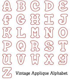 Alphabets :: Vintage Applique Alphabet - Embroidery Boutique