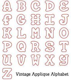 Alphabets :: Vintage Applique Alphabet - Embroidery Boutique