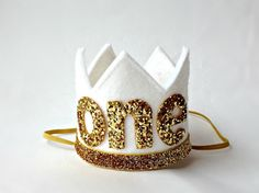 Hey, I found this really awesome Etsy listing at https://www.etsy.com/listing/237751070/1st-first-birthday-crown-white-and-gold