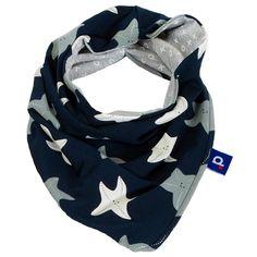 Foulard tube enfant étoiles de mer jersey bleu marine . Un snood mixte,  fille ou 5a2e61ae6c0
