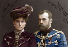 Tsar Nicholas II & Alexandra Feodorovna, 1917.