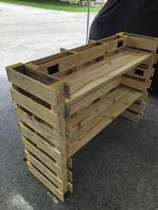 Pallet Bar, Superb Quality, Attention To Detail. 58X18X42 , Includes Top, Prep Shelve & Storage Shelve, Includes Powered Coated Foot Rest. ( Un-Finished ). Ready To Stain. Bars Are Made From New Dual Entry Pallets Made By A Pallet Manufacturer For The Construction Industry, These Bars Will Complement Any Area Of Your Home. ( Electrical Outlets & Interior Lights Can Be Added For Additional Charge ). $189.50. Dont Delay, Order Yours Today. ...Bottom Boards Are Made For Moving During…