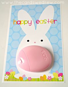 An Easter Bunny EOS Lotion Printable from The Cards We Drew and DimplePrints