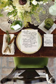 Our Balsam Calligraphy invitation was used for one of the most gorgeous inspiration shoots we've ever seen!