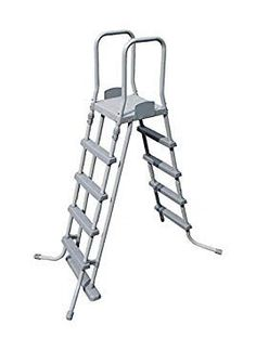 Bestway 52 Inch Above Ground Pool Ladder - Gray for sale online Intex Above Ground Pools, Above Ground Pool Ladders, Above Ground Swimming Pools, In Ground Pools, Quick Up Pool, Oberirdische Pools, Piscina Rectangular, Ladder Accessories, Swimming Pool Ladders