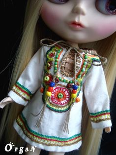 OOAKLight Little India Art Tunic Offwhite DRESSwith by organ111, $22.00