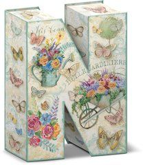 """Garden Party Decorative Letter """"N"""" Storage Box With Magnetic Closure"""