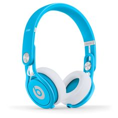 Neon Blue Beats Headphones - perfect for beating the dull grey days!