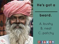 Collocation quiz: He's got a _______ beard.
