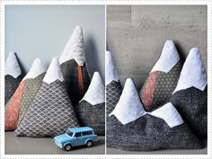 sewing idea: mountains cushion