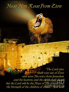 Lion Of Judah Roar From Zion by Constance Woods Arte Judaica, Image Jesus, Padre Celestial, Tribe Of Judah, Prophetic Art, Christian Art, Christian Warrior, Christian Posters, Christian Quotes