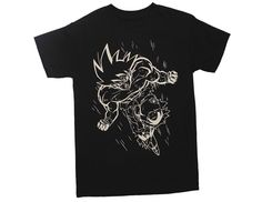 7b4f072f Amazon.com: Ripple Junction Dragon Ball Z White Line Goku Adult T-Shirt:  Clothing