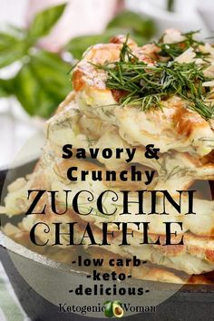 You will love this crunchy and savory keto zucchini chaffle! Use up your garden squash. Family and budget friendly low carb recipe Keto Foods, Ketogenic Recipes, Low Carb Recipes, Healthy Recipes, Lunch Recipes, Pork Recipes, Ketogenic Diet, Dinner Recipes, Hamburgers