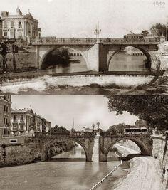 El puente viejo o puente de los Peligros. 1912, 98 años los separan Del proyecto Murcia ayer y hoy de Juan Vicente .https://www.facebook.com/photo.php?fbid=10207177994820836