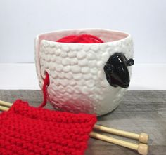Made to orderYarn bowl sheep Knitting bowl by ceramiquecote