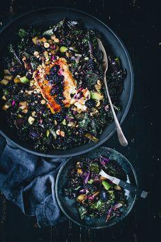 Eggplant, Blackberries, and Kale Salad