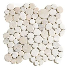 Our Quartz Circle Pebble Tile are a sliced or flat pebble tile created for flooring by using perfectly symmetrical circles or varying sizes Shower floor Shower Floor Tile, Bathroom Floor Tiles, Mosaic Bathroom, Bath Tiles, Mosaic Tiles, Pebble Mosaic, Backsplash Tile, Mosaics, Master Bath Shower