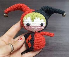 Harley Chibi Quinn - free crochet pattern and video tutorial by üka marinüka.