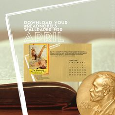 Download April's #ReadNobels wallpaper with the first woman to win the Nobel Prize for Literature! / guiltless reading