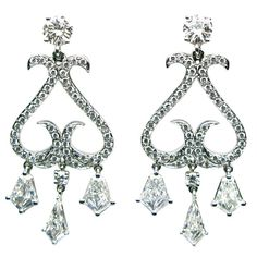 1stdibs.com | Kite Diamond Chandelier Earrings