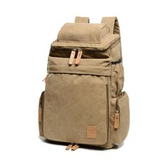 0303ff5e8 [US$44.93 ~ US$52.93] Men Women Large Capacity School Laptop Backpack  Canvas Casual Backpack #women #large #capacity #school #laptop #backpack  #canvas # ...