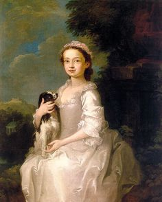 """""""Portrait of a Young Girl """" (1742 - 45), William Hogarth"""