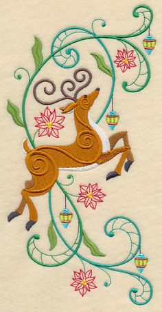 Reindeer Potpourri. Machine Embroidery Designs at Embroidery Library! -