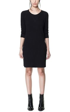 Image 1 of STRUCTURED VELOUR DRESS from Zara