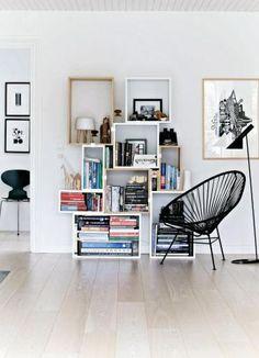 Livingroom/Acapulco chair/Muuto boockcase/scandinavian