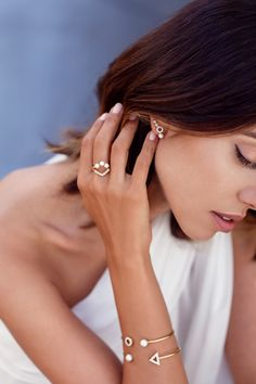 VIVALUXURY x MEJURI JEWELRY COLLECTION. White Velvet ear crawlers